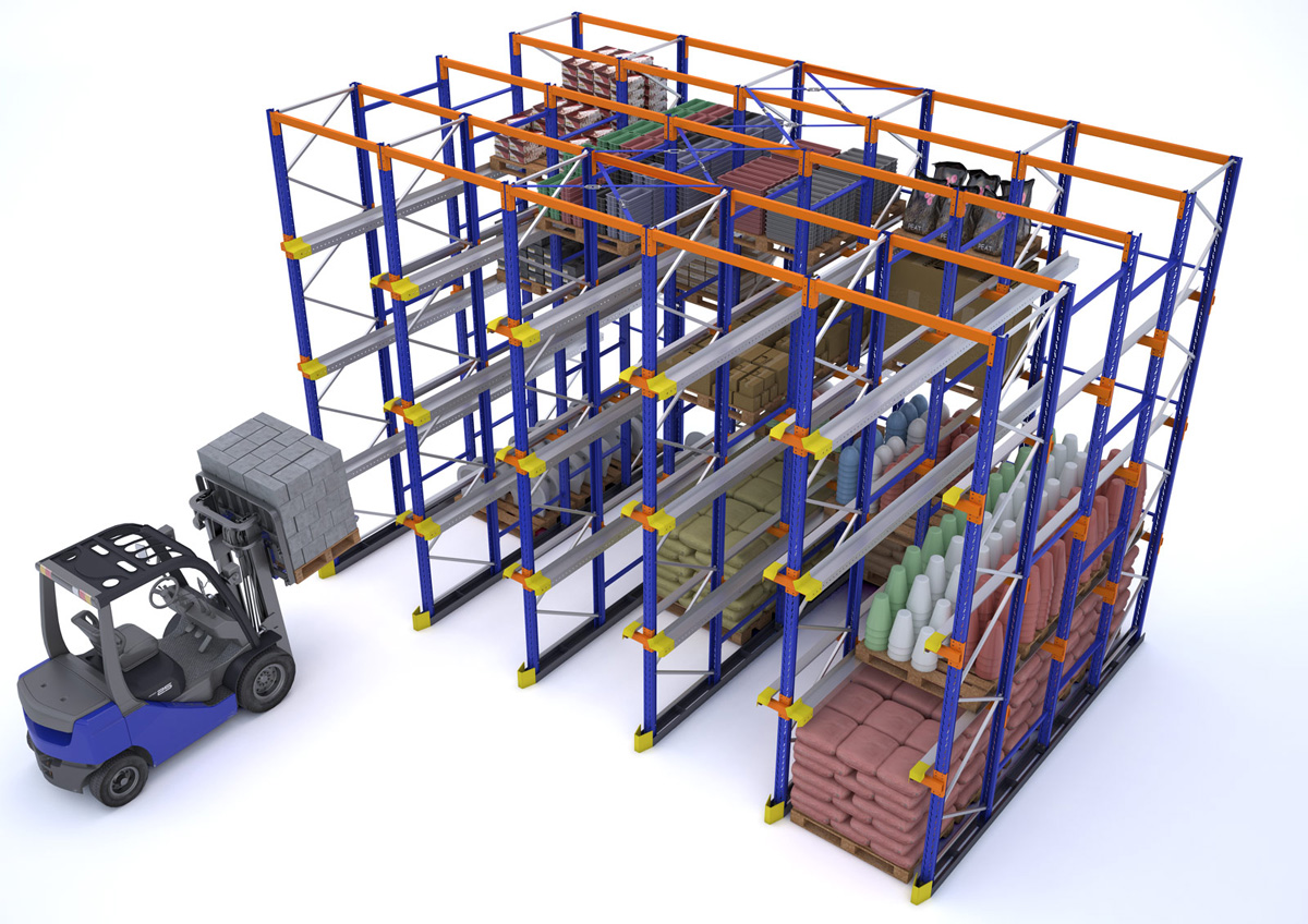Drive In And Drive Through Pallet Racks